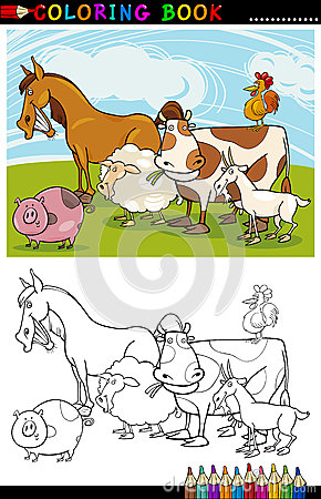Bauernhof-und Viehbestand-Tiere für Farbton