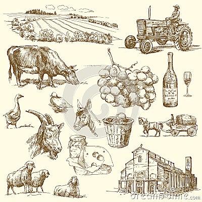 Bauernhofansammlung