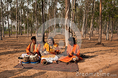 Baul Folk song performance Editorial Image