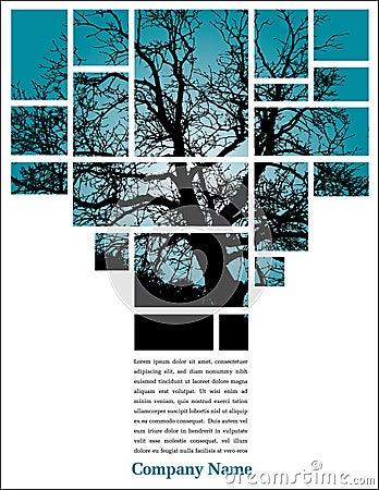 Baum in den Blöcken mit Text