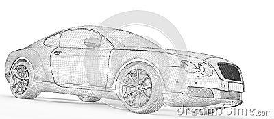 Baumuster des Autos 3D