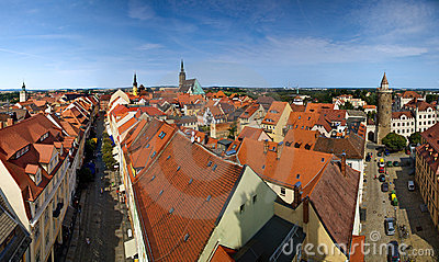 Bautzen city in Germany panorama
