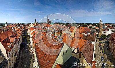 Bautzen city in Germany panorama
