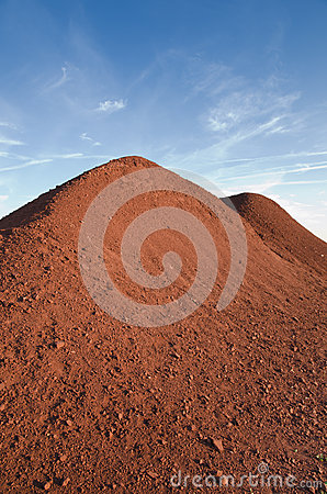Bauxite hill at the sunset-Spinazzola-Italy