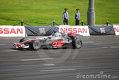 Bavaria Moscow City Racing 2010, Jenson Button Editorial Stock Image