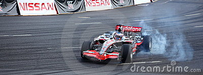 Bavaria Moscow City Racing 2010, Jenson Button Editorial Stock Photo