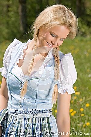 Bavarian beauty in the meadow