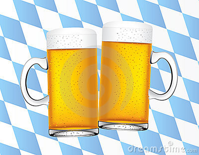 Bavarian beers background