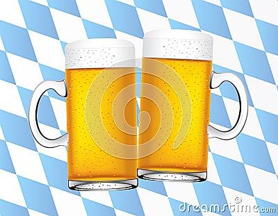 Bavarian beers background