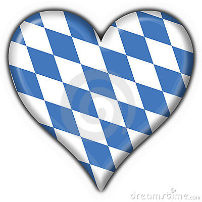 Bavarian button flag heart shape