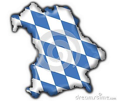 Bavarian button flag map shape