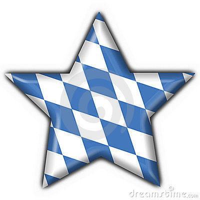 Bavarian button flag star shape