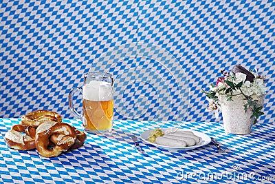 Bavarian food and drinks