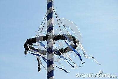 Bavarian Maibaum or Maypole