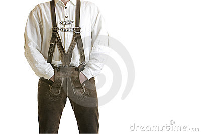 Bavarian Oktoberfest Leather Trousers (Lederhose)