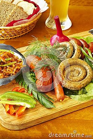 Free Bavarian Sausage-grill Royalty Free Stock Image - 6404426
