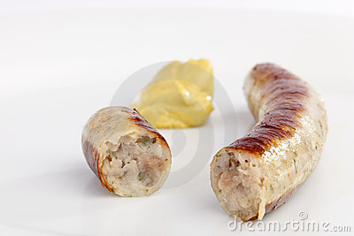 Bavarian sausage with mustard