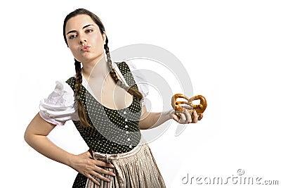 Bavarian waitress Oktoberfest