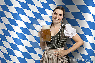 Bavarian waitress Oktoberfest