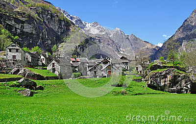 Bavona Valley,Locarno,Ticino,Switzerland