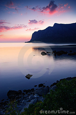 Free Bay After The Sunset Royalty Free Stock Image - 12781466
