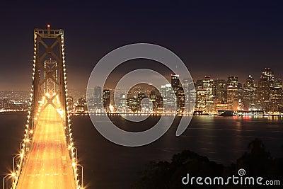 Bay Bridge & San Francisco at night