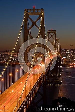 Bay Bridge, San Francisco at sunset