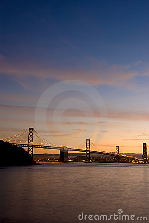 Bay Bridge, San Francisco at sunset