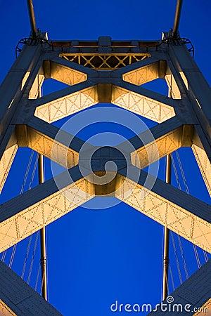 Bay Bridge Tower at Sunset