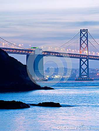 The Bay Bridge and Yerba Buena Island at Dusk