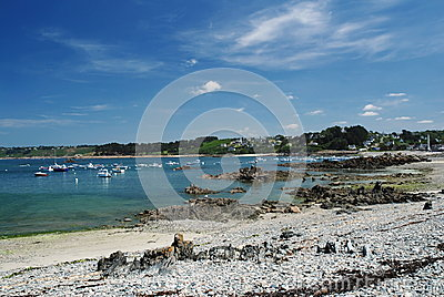 Bay on the coast of Brittany
