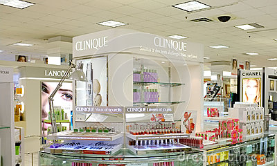 The bay company clinique store Editorial Stock Image