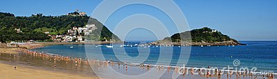 Bay of Concha beach in San Sebastian