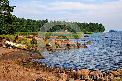 Bay on the Finnish Coast