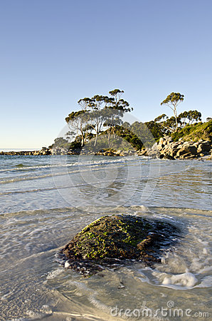 Bay of fires late light landscape tasmania stock image for Landscaping rocks tasmania