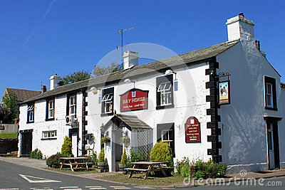 The Bay Horse village pub Arkholme Lancashire UK Editorial Image