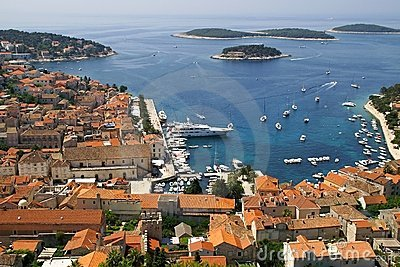 The bay in Hvar