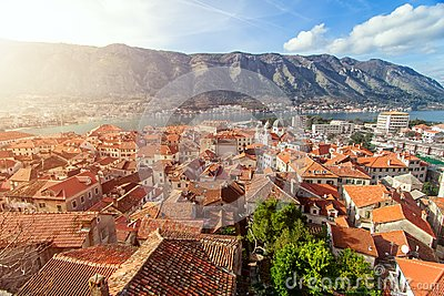 Bay of Kotor, Montenegro. Boka kotorska.