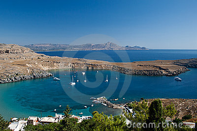 Bay in Lindos