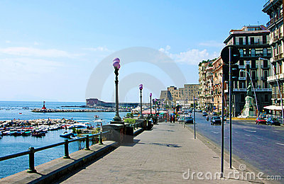 Bay of Naples,  sea-front