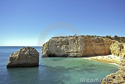 Bay near Armacao de Pera in the Algarve in Portuga