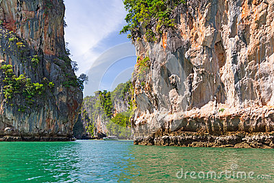 Bay of Phang Nga National Park in Thailand
