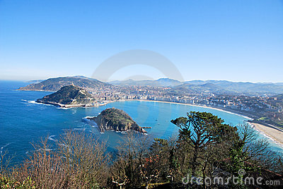 The bay of San Sebastian