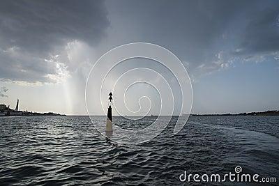 Bay of Sevastopol at the storm