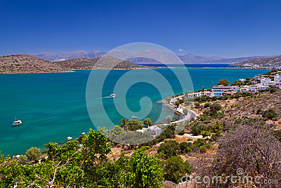 Bay with turquoise lagoon on Crete