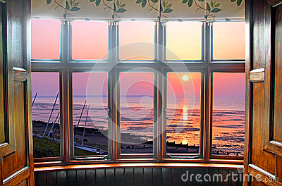 Bay window sunset