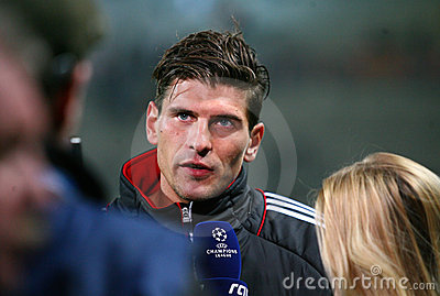 Bayern Munchen s Mario Gomez Editorial Image