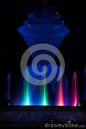 Bayliss Park Fountain blue