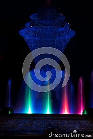 Bayliss Park Fountain blue