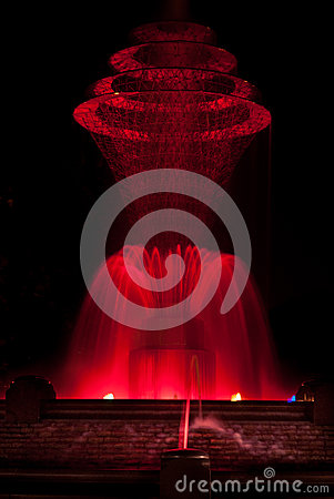 Bayliss Park Fountain Red